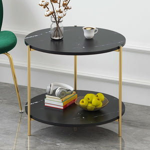 Faux Marble Side Tables - Moonova Home