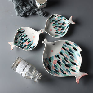 Kissy Fish Plates - Moonova Home