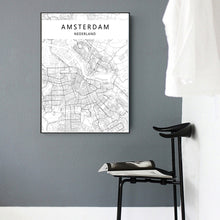 Load image into Gallery viewer, Amsterdam Map Print