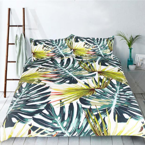 Tropical Leaf Bedding Set - Moonova Home