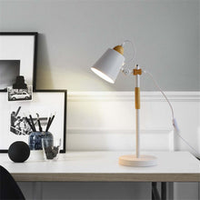 Load image into Gallery viewer, Modern Wood + Metal Table Lamp - Moonova Home