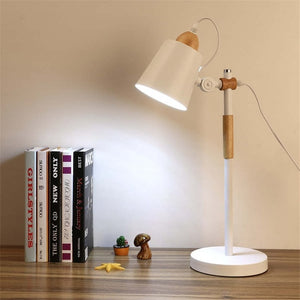 Modern Wood + Metal Table Lamp - Moonova Home