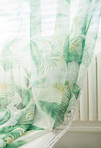 Tropic Like It's Hot Leaf Curtains - Moonova Home