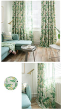 Load image into Gallery viewer, Tropic Like It's Hot Leaf Curtains - Moonova Home