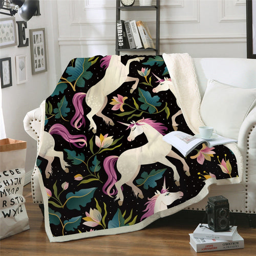 Enchanted Unicorn Throw Blanket - Moonova Home