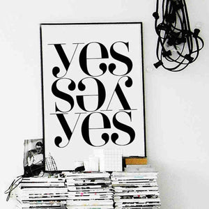 YES Typography Print - Moonova Home