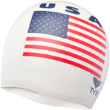TYR Silicone Graphic Swim Cap USA