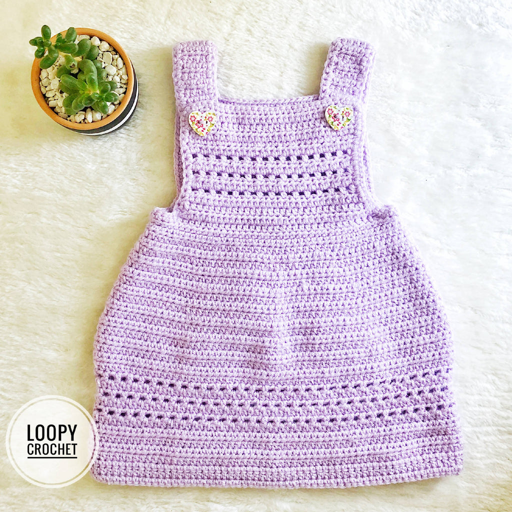 Lilac Newborn Crochet Baby Dress
