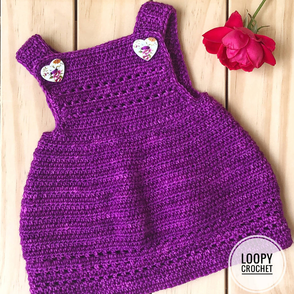 Newborn Crochet Berry Dress