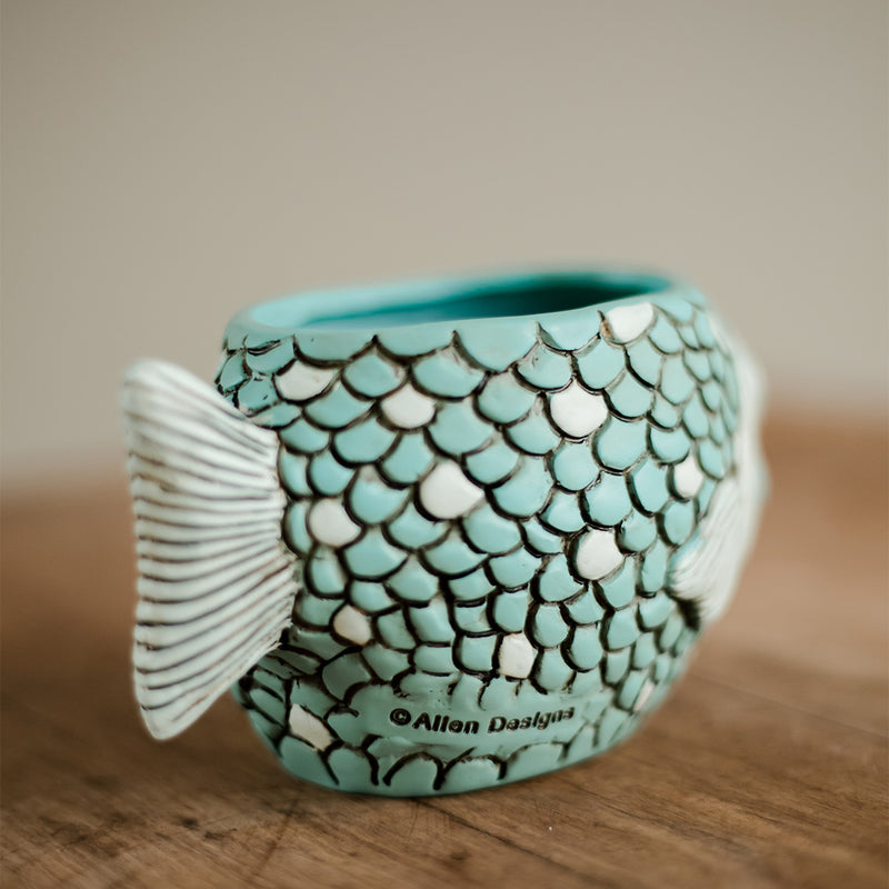 Blue Fish Planter and Baby Blue Fisher Planter