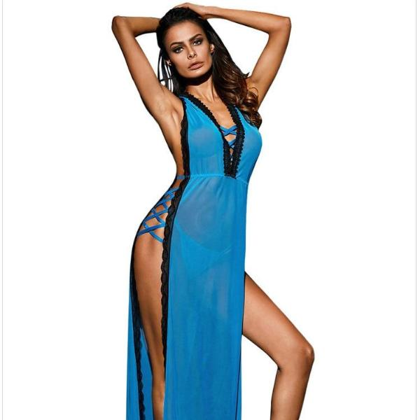 Sex Erotic Lingerie Clothes For  Costumes  Hot Sexy nightgown Lingerie Dress Plus Size 31091 Disfraz Sexy Nuisette Pyjamas robe