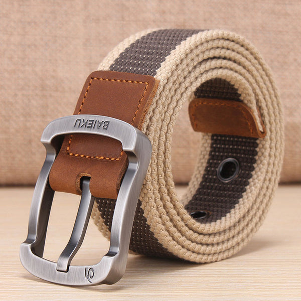 CANVAS MILITARY BELT