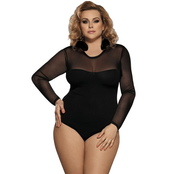 SOLID MESH BODY SUIT