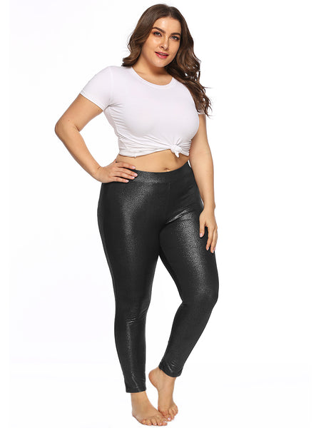 New Women fashion high waist Casual trousers Plus Size Elastic Shinny Skinny Leggings spring auumn ladies comfy Pants