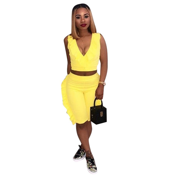 Plus Size Two Piece Set Summer Crop Top And Shorts Suits Matching Sets 2 Piece Outfits For Tracksuit Fishnet Shorts Sweat Suits