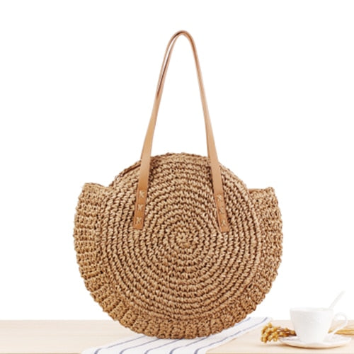 Cocoa Straw Bag / 2 colors