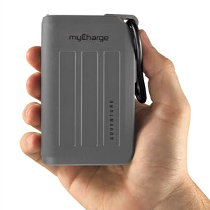 Adventure H20 10050mAh Portable Charger Grey Hand