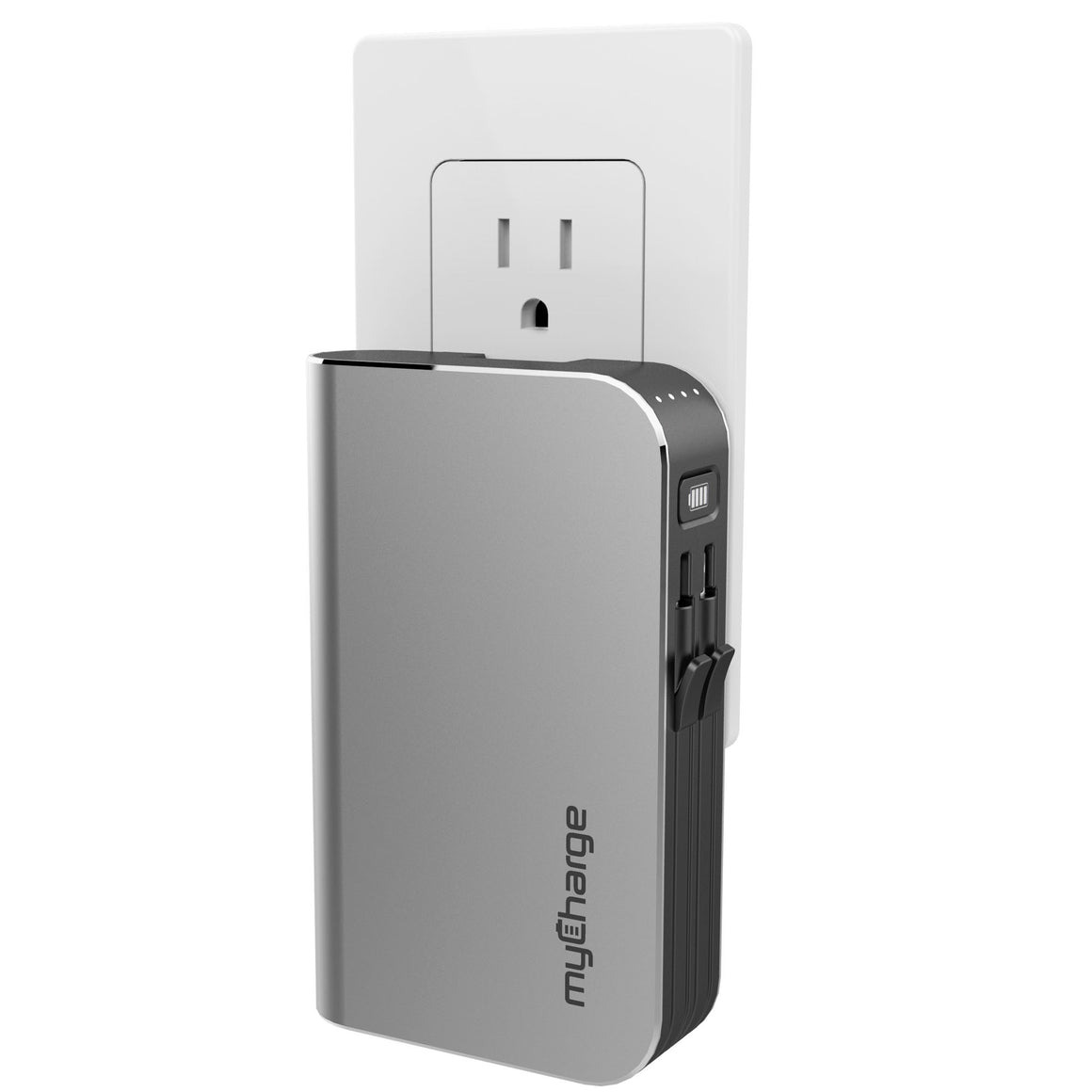 myCharge HubMax 9000mAh portable battery charger prongs