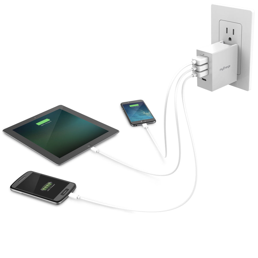 Wall Charging Hub Charge 4 Devices