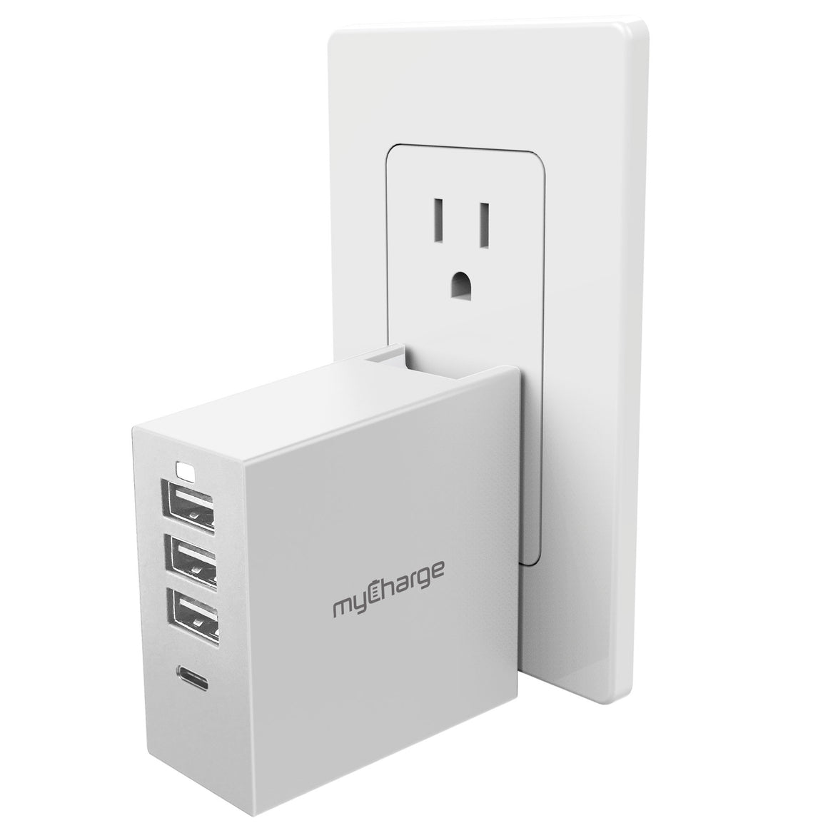 Wall Charging Hub Charge 4 Devices Plugged In