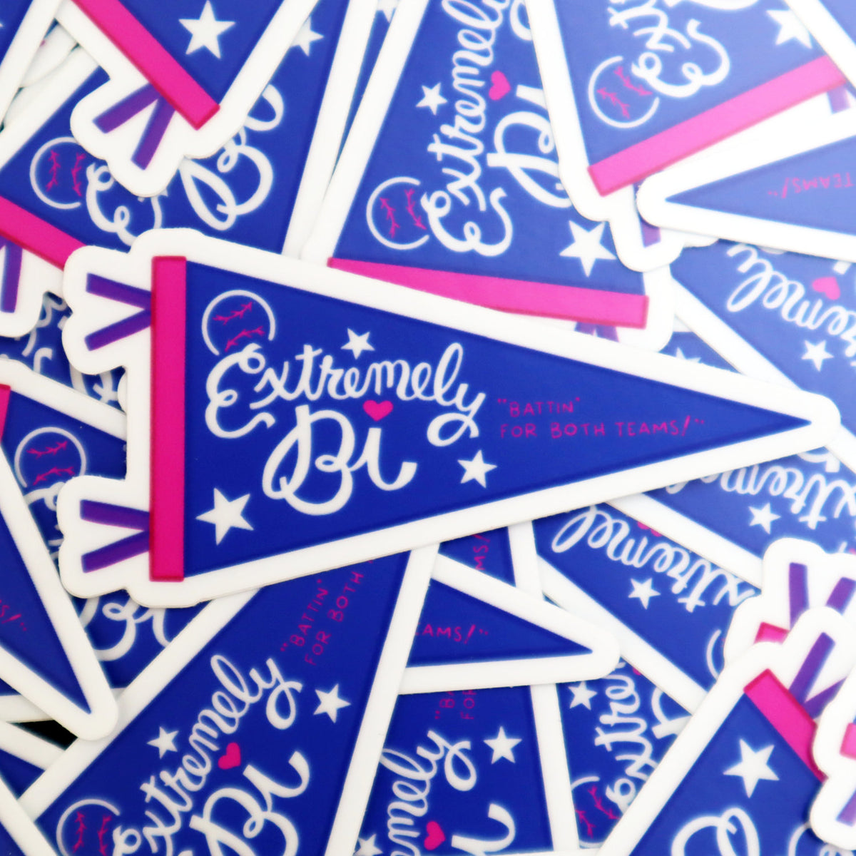 Extremely Bi Sports Pennant Sticker