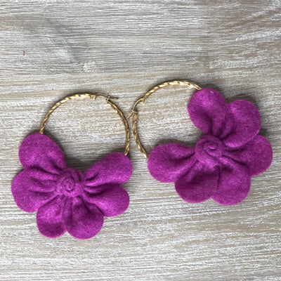 Corozal Earrings Deep Magenta