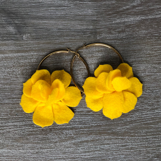 Corozal Earrings Yellow