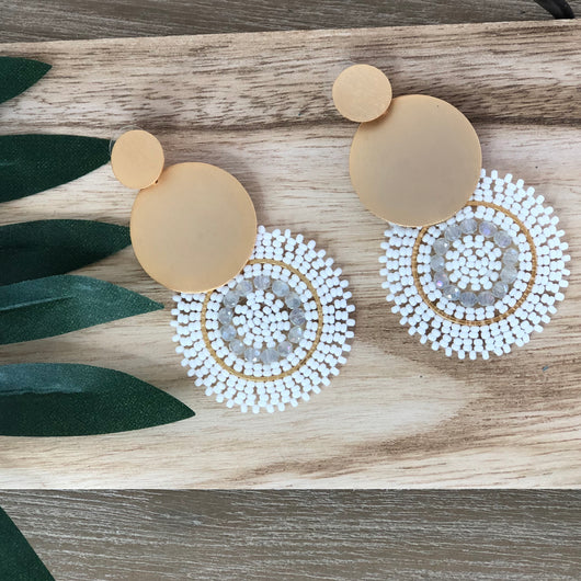Encanto Earrings White