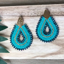 Solano Earrings Aqua
