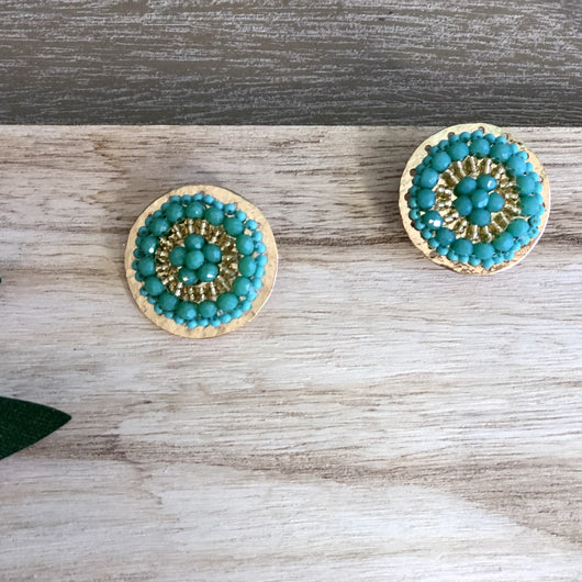San Andres Earrings Green