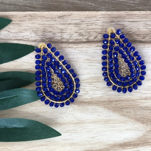 San Agustin Earrings Blue