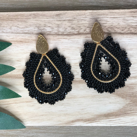 Solano Earrings Black