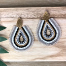 Solano Earrings Black and White