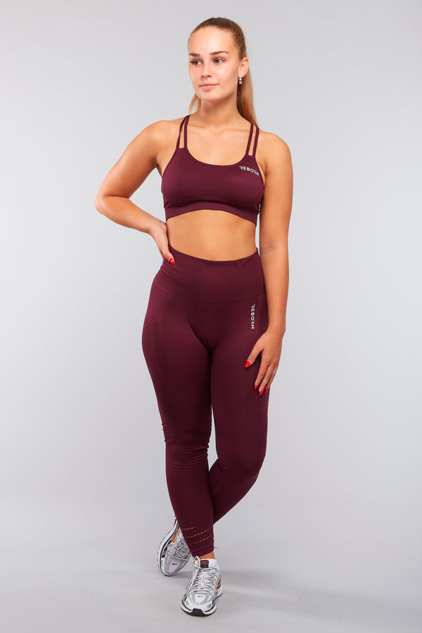 SEAMLESS HYPERLACE LEGGINGS MAROON