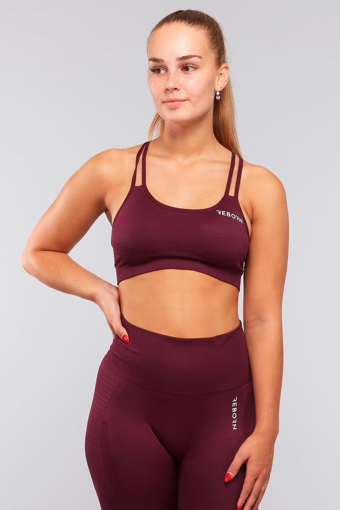 HYPERLACE CROP TOP MAROON