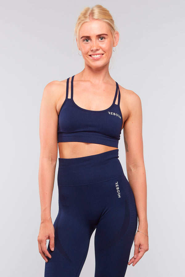 SEAMLESS HYPERLACE LEGGINGS NAVY BLUE