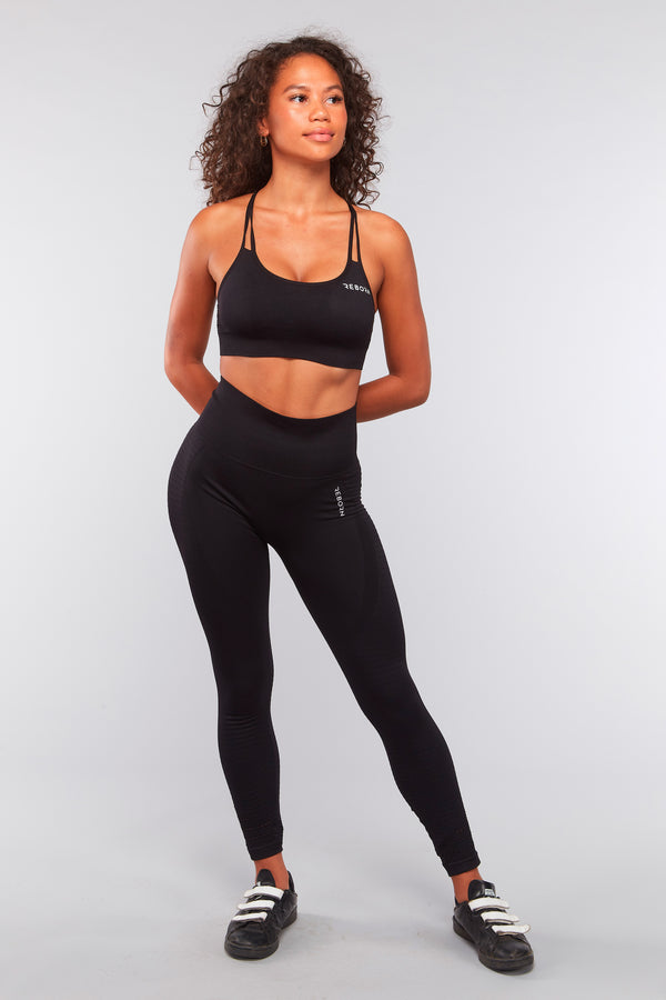 SEAMLESS HYPERLACE LEGGINGS BLACK