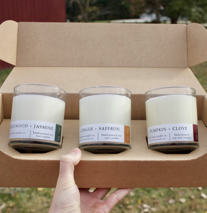 Three Candle Bundle - Wildrootscandle