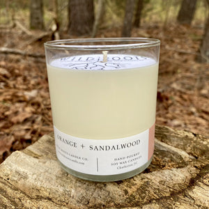 Orange + Sandalwood - Wildrootscandle