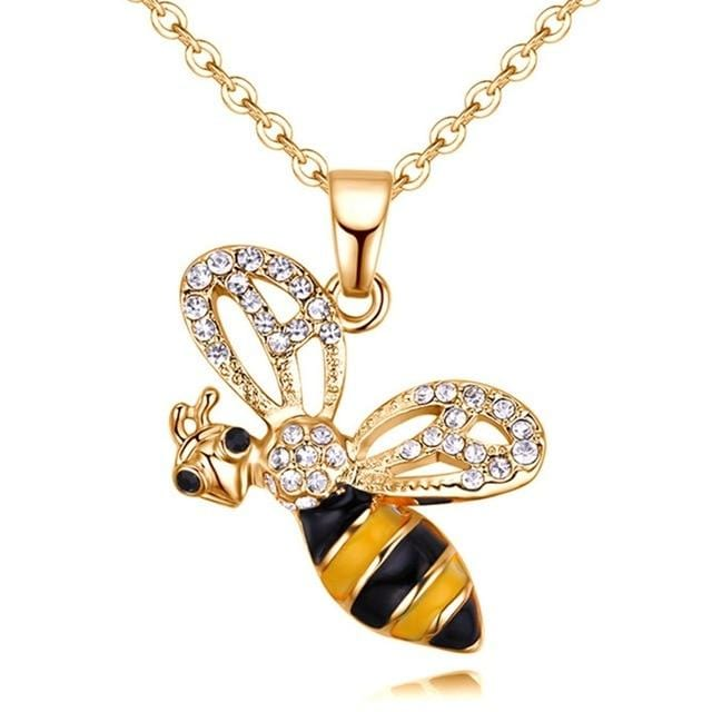 Vintage Bee Pendant Necklace