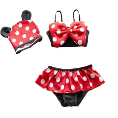 Polka Dot Pop Three Piece Bathing Suit