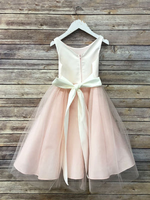 Satin Top Dress With Tulle Skirt