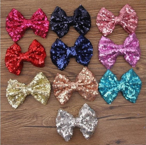 Stunning Sequins Hair Bow