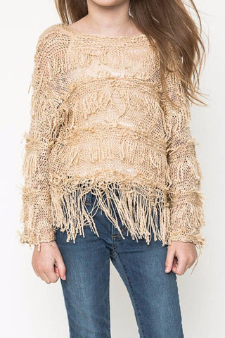 Layered Fringe Sweater