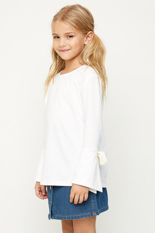 Bell Sleeved Tie Top