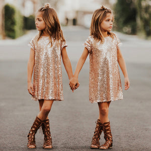 Katy Dress- Rose Gold