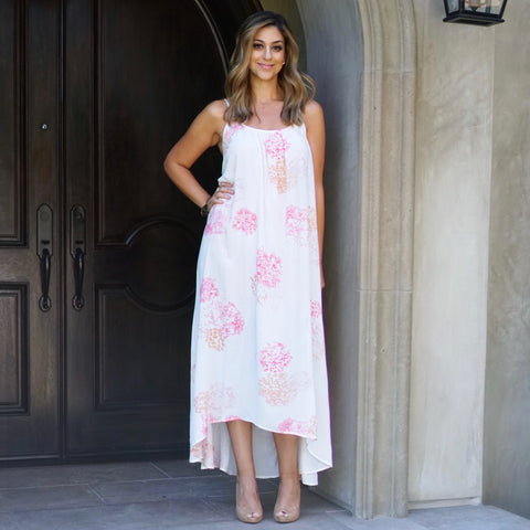 Printed High Low Maxi Dress