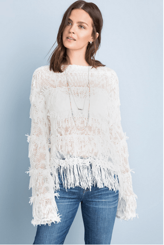 Woman's Layered Fringe Sweater