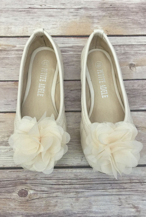 Chiffon Flower Girl Shoes