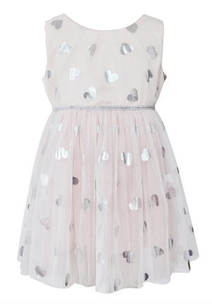 Metallic Heart Tulle Dress